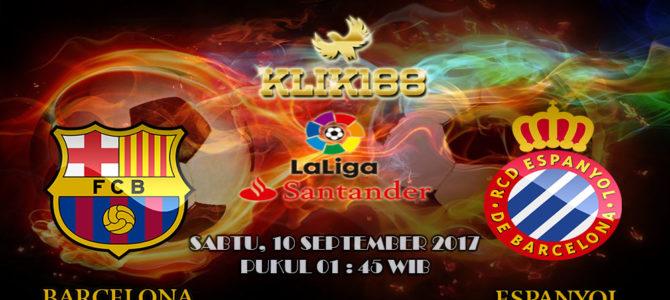 Prediksi Jitu Barcelona vs Espanyol 10 September 2017